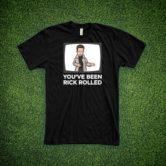 Rick Astley T- Shirt – Rick Rolled – Black