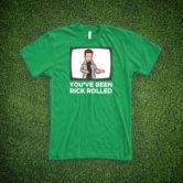 Rick Astley T-Shirt – Rick Rolled – Green