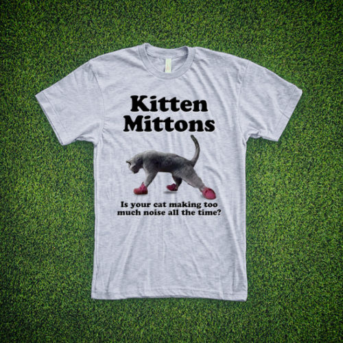 Kitten Mittons Shirt (Grey)