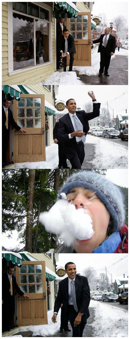 obama-throws-snowball-at-woman