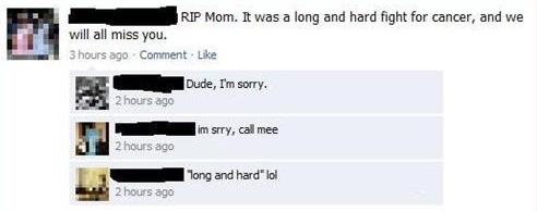 Cancer Facebook Fail