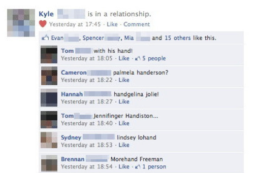 Masturbation Hand Facebook Fail