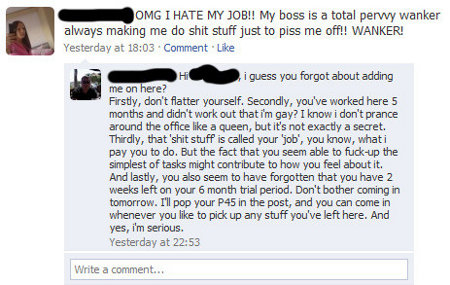 Fired from Job Fail