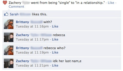 Relationship Facebook Fail