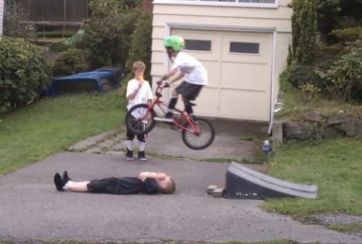 Kid Jumping Kid on a Bike