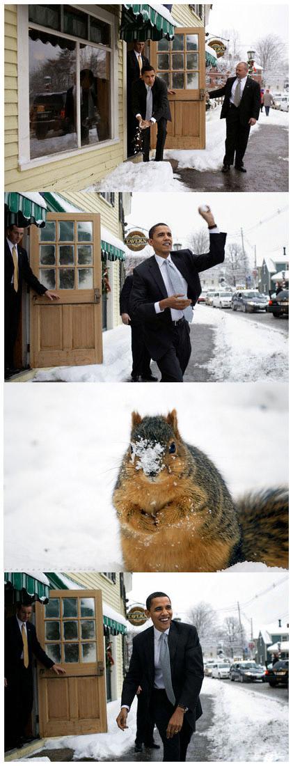 top 10 photos of obama throwing snowballs