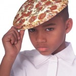 wtf pizza hat on kid