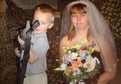 kid and bride