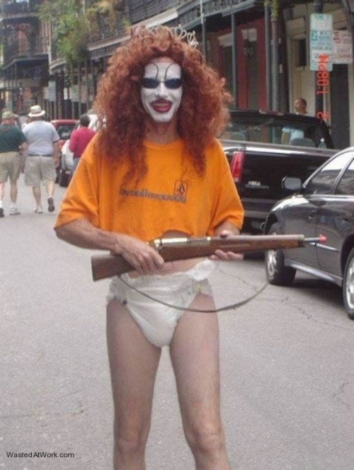 clown with gun