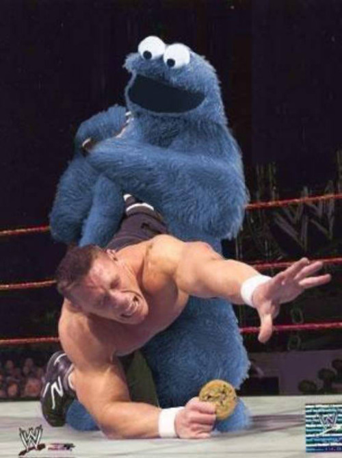 cookie-monster-wrestling