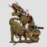 Cats Riding T-Rex - Funny Cat Shirt
